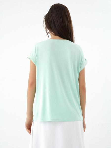 Блузка с подворотами на рукавах - фото 5