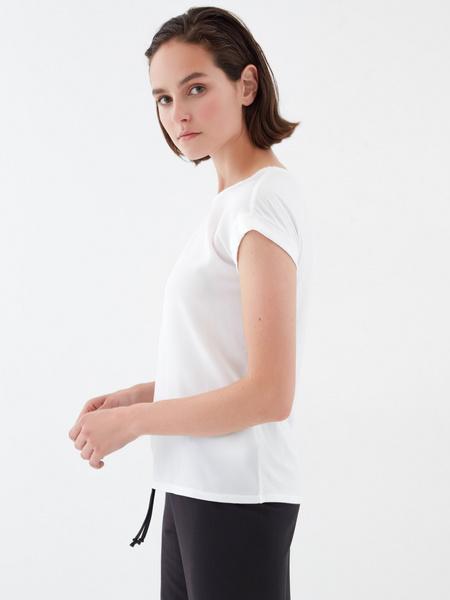 Блузка с подворотами на рукавах - фото 3