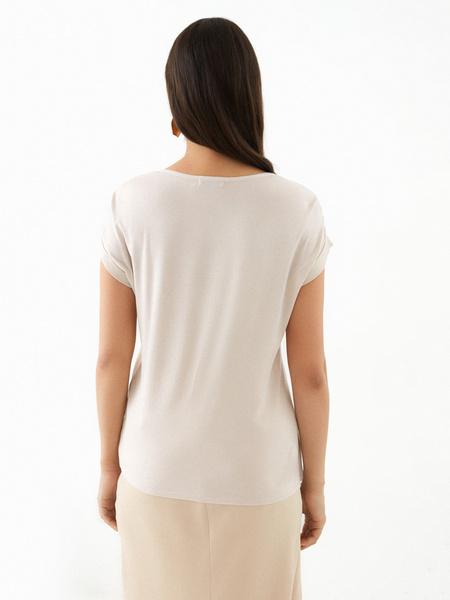 Блузка с подворотами на рукавах - фото 4