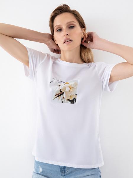 Повседневная футболка с принтом - фото 3