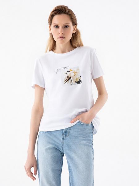 Повседневная футболка с принтом - фото 4