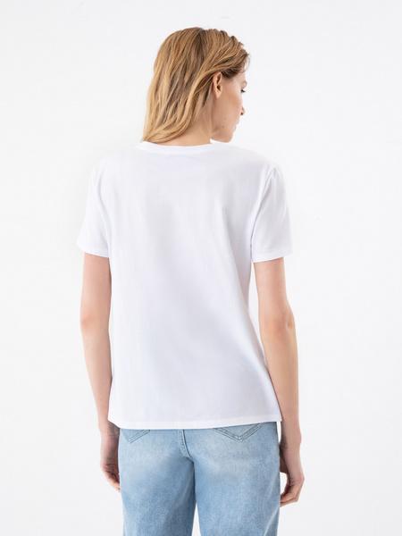 Повседневная футболка с принтом - фото 5