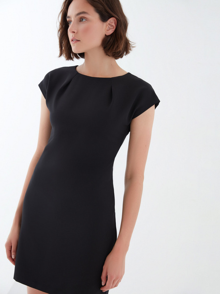 Платье с коротким рукавом - фото 4