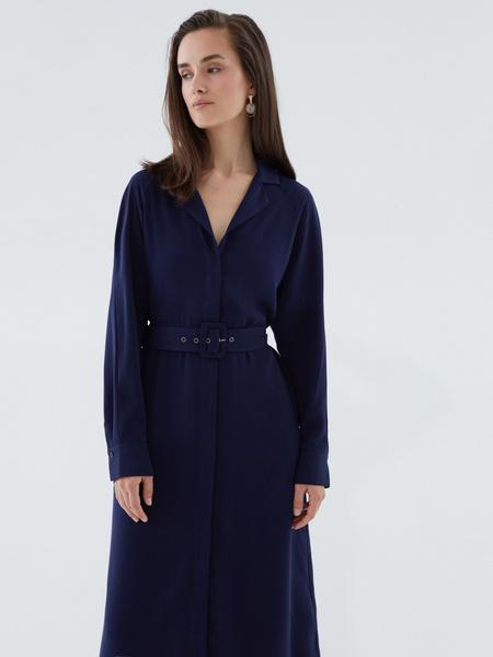Платье-миди на поясе - фото 3