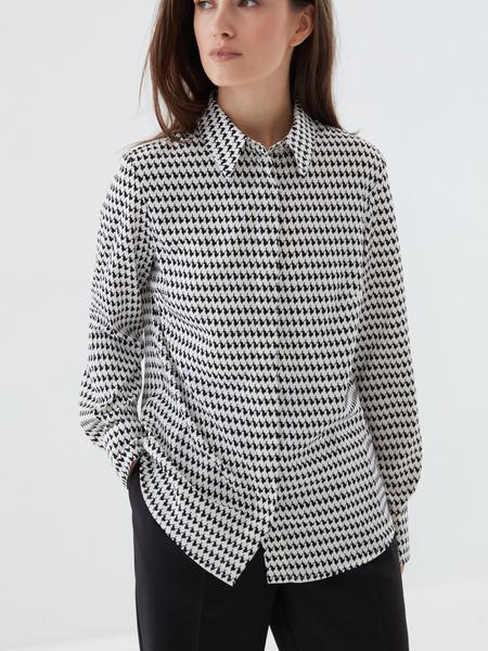 Блузка в «гусиную лапку» - фото 2