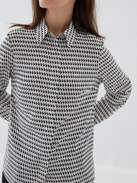 Блузка в «гусиную лапку» - фото 3