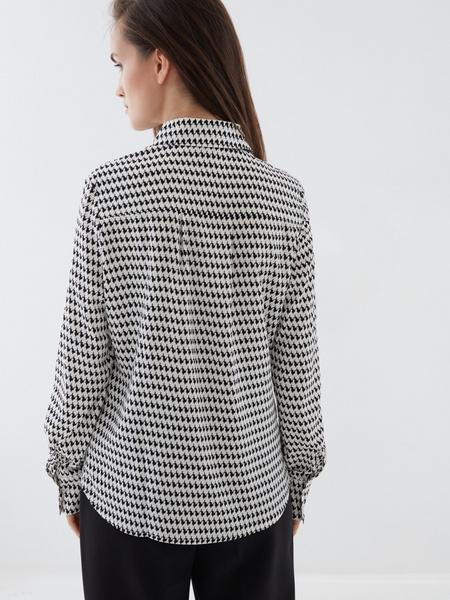 Блузка в «гусиную лапку» - фото 4