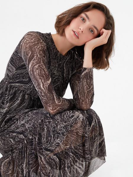 Платье с воланом - фото 3