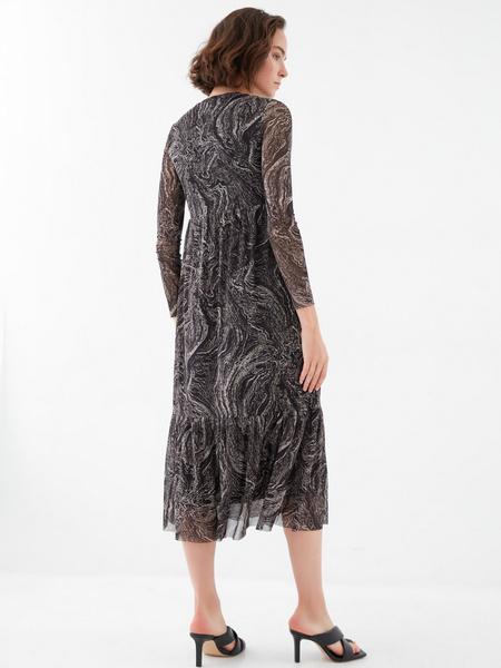 Платье с воланом - фото 4