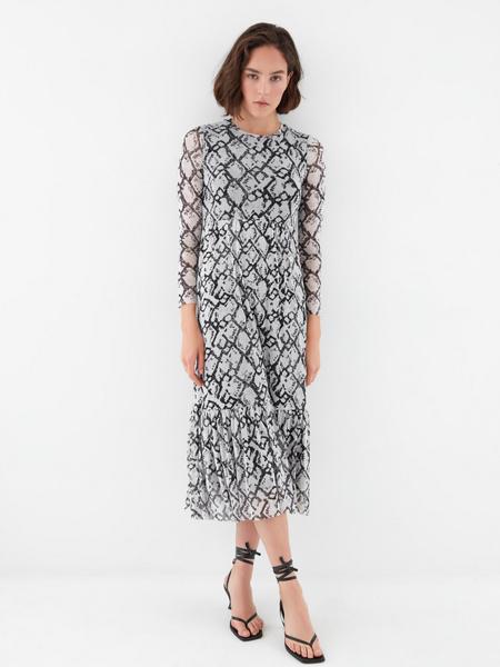 Платье с воланом - фото 7