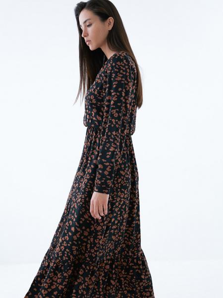 Платье с разрезом - фото 4