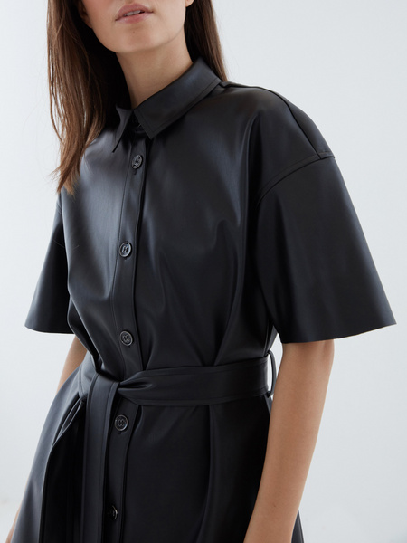Платье из экокожи - фото 2