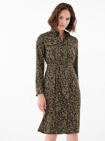 Платье с карманами по груди
