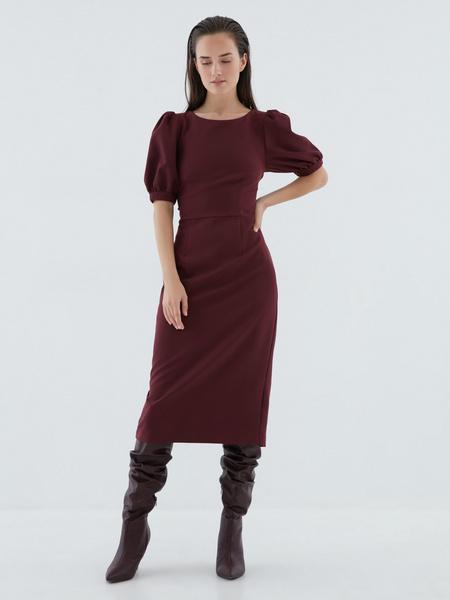 Платье с рукавами-фонариками - фото 2