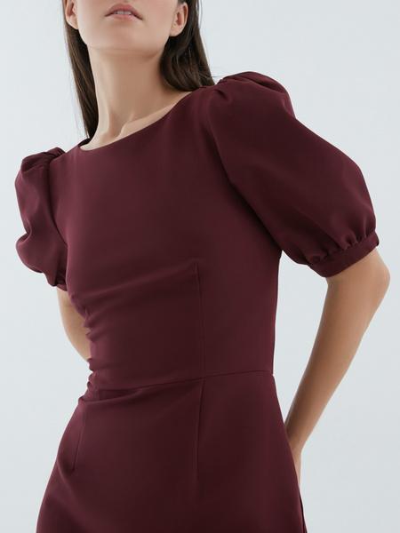 Платье с рукавами-фонариками - фото 3