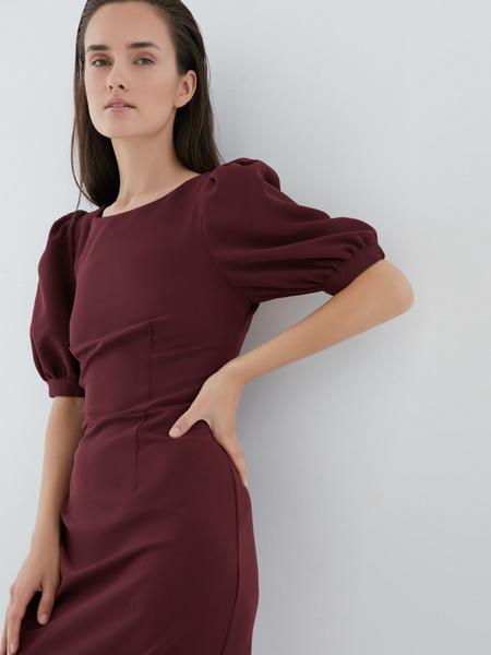 Платье с рукавами-фонариками - фото 4