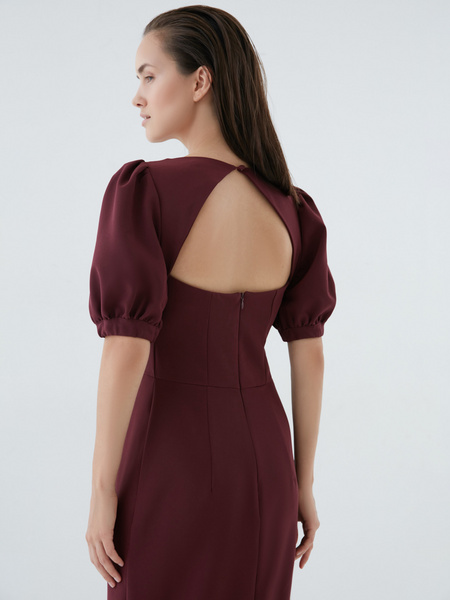 Платье с рукавами-фонариками - фото 5
