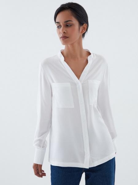 Блузка с карманами на груди - фото 4