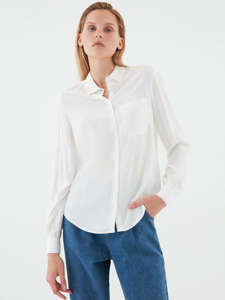 Блузка с удлиненной спинкой - фото 1