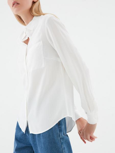 Блузка с удлиненной спинкой - фото 3