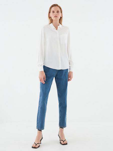 Блузка с удлиненной спинкой - фото 6