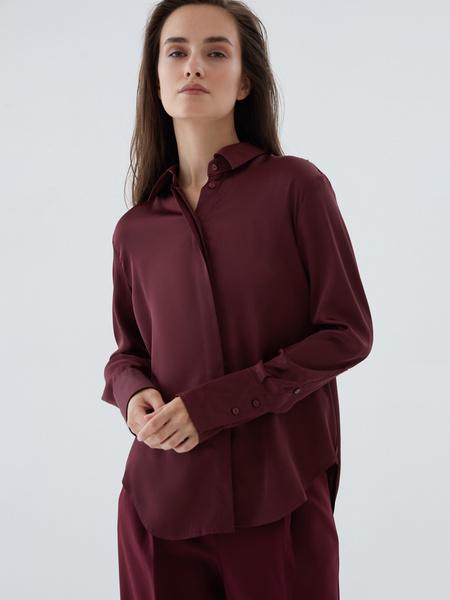 Атласная блузка - фото 1