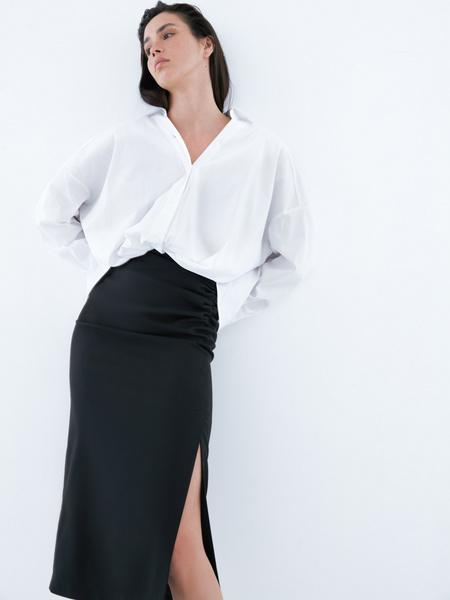 Блузка с перекрученным низом - фото 1