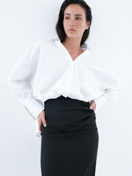 Блузка с перекрученным низом - фото 2