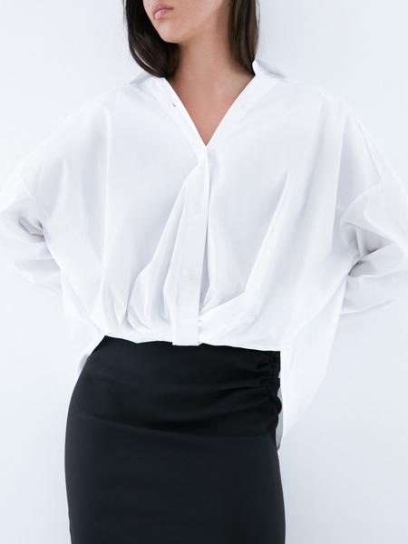Блузка с перекрученным низом - фото 3