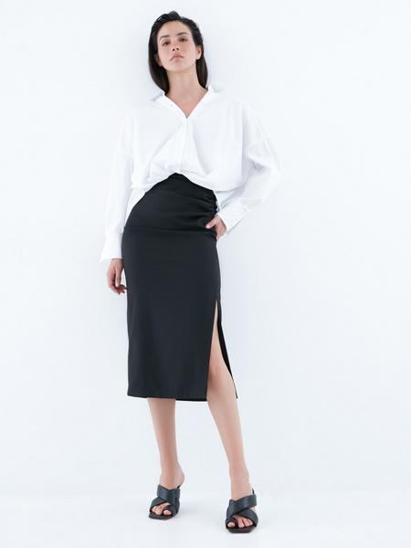 Блузка с перекрученным низом - фото 6