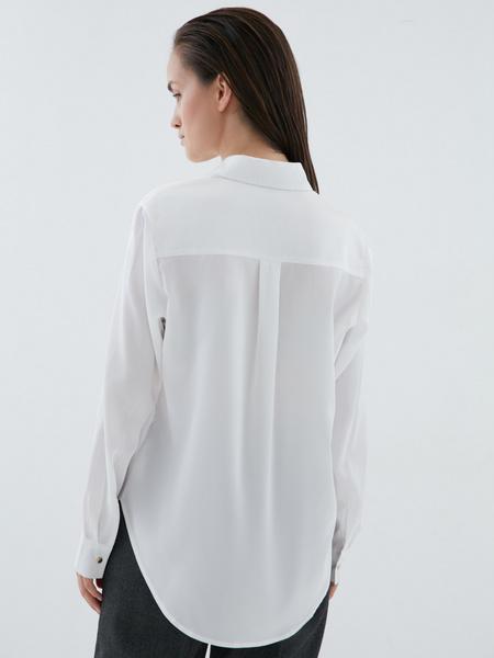 Блузка с удлиненной спинкой - фото 5