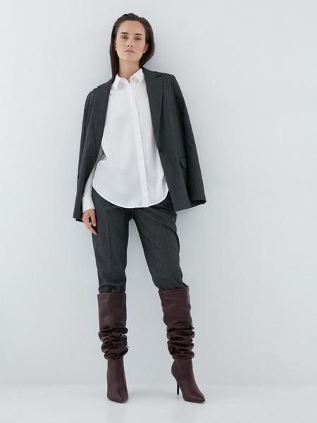 Блузка с удлиненной спинкой - фото 7