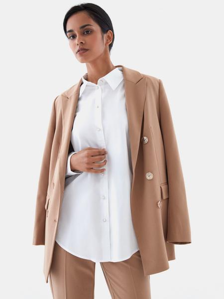 Блузка с пуговицами-бусинами