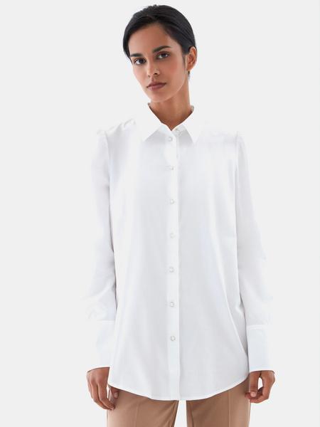 Блузка с пуговицами-бусинами - фото 2