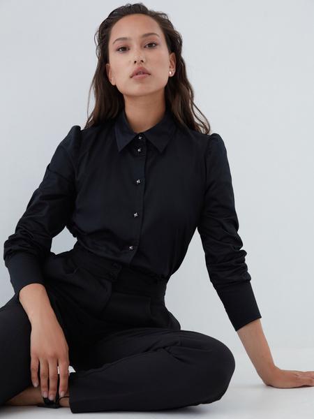 Блузка с пуговицами-бусинами - фото 1