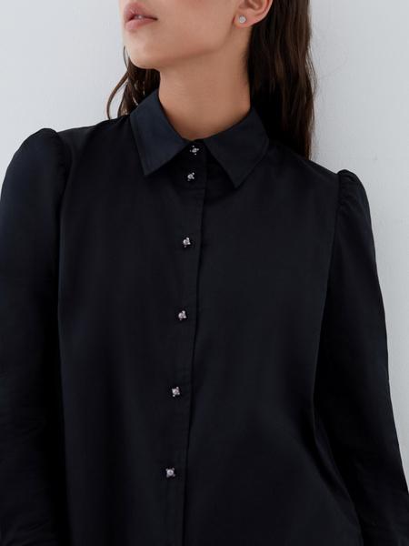 Блузка с пуговицами-бусинами - фото 3