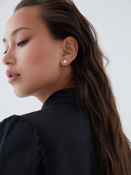 Блузка с пуговицами-бусинами - фото 5