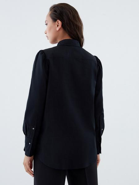 Блузка с пуговицами-бусинами - фото 6