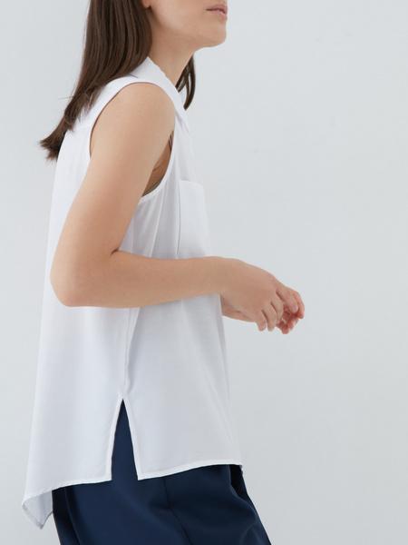 Блузка с накладными карманами - фото 3