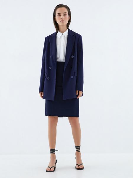 Блузка с накладными карманами - фото 6