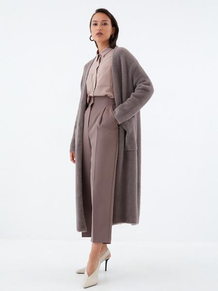 Блузка с накладными карманами - фото 7
