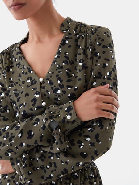 Платье с жемчужными пуговицами - фото 3