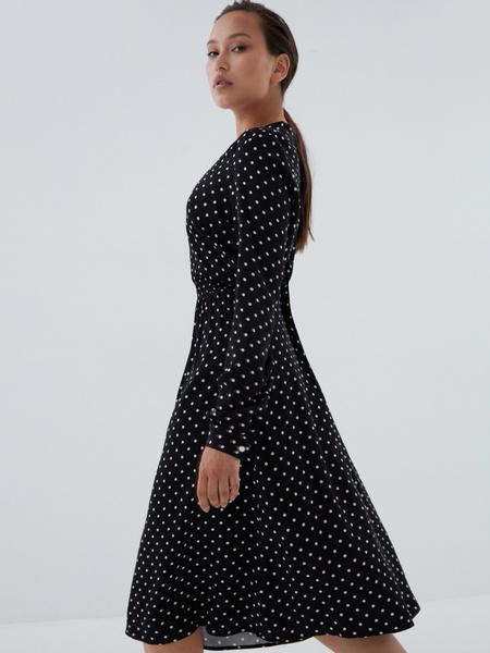 Платье с жемчужными пуговицами - фото 4