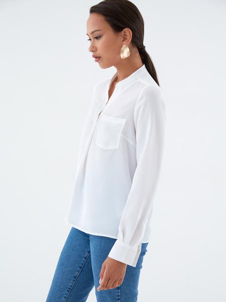 Блузка с воротником-стойкой - фото 2
