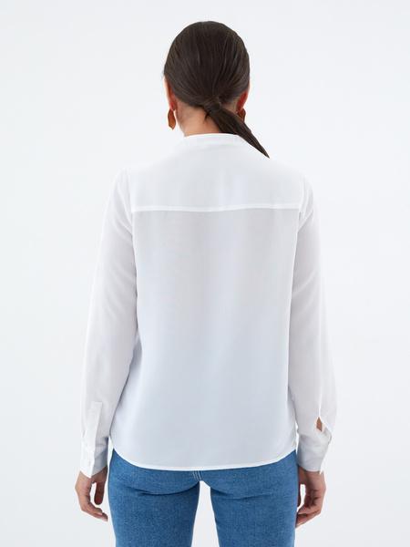 Блузка с воротником-стойкой - фото 3