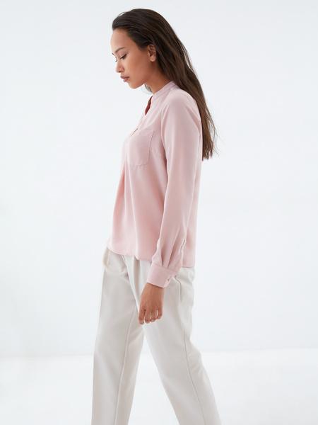Блузка с воротником-стойкой - фото 4