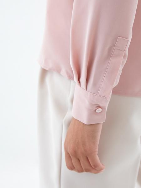 Блузка с воротником-стойкой - фото 5