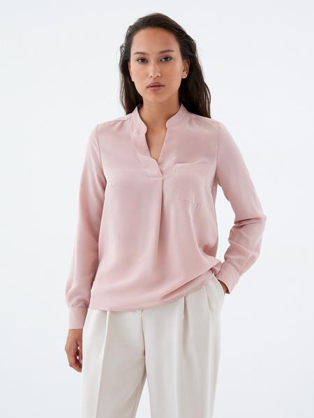 Блузка с воротником-стойкой - фото 6