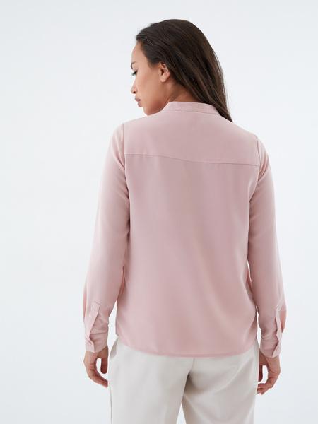 Блузка с воротником-стойкой - фото 7