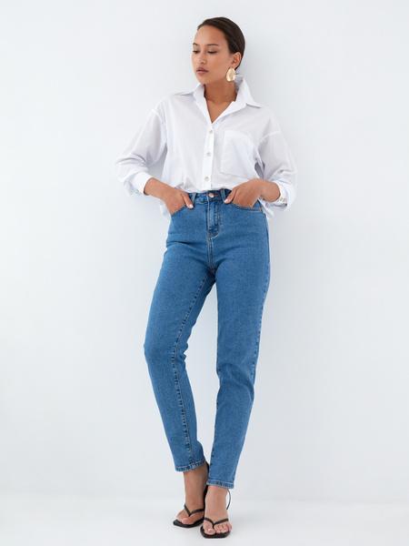 Хлопковая блузка с карманом - фото 6